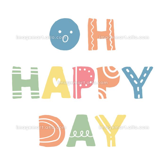 Oh Happy Day、スカンジナビアンスタイルの手書きワードの販売画像
