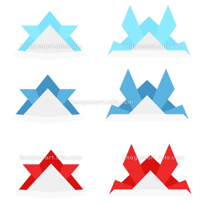 イラスト素材 おりがみ 折り紙 兜 端午の節句 ベクターの販売画像