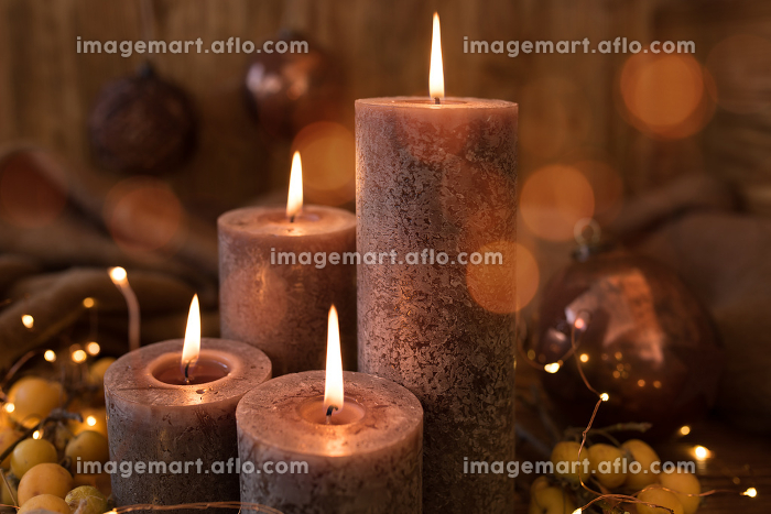 Christmas candles still life