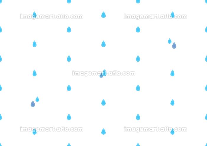 雨のシームレスなドット背景のイラストの販売画像