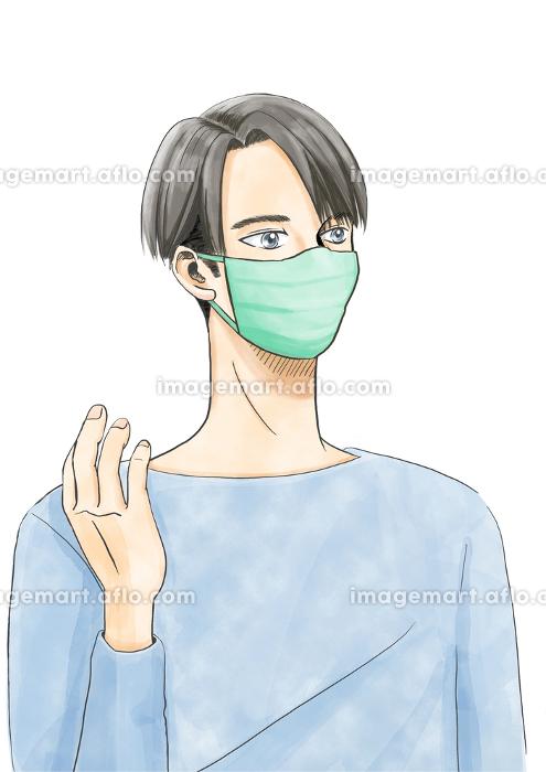 まんがタッチ男性マスクの販売画像