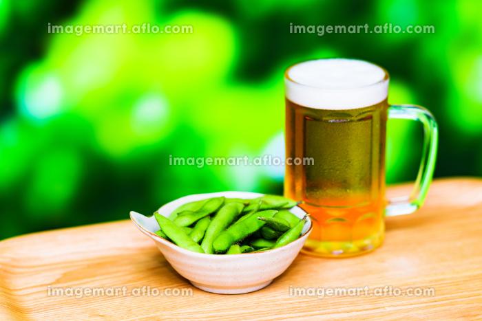 ビール 枝豆 アウトドア【 夏 の イメージ 】の販売画像