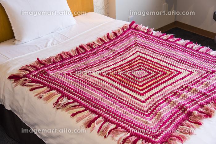 クロシェ手編みのベッドシーツ掛けの販売画像