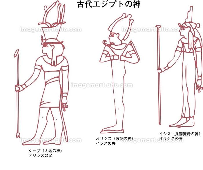 古代エジプトの神の販売画像