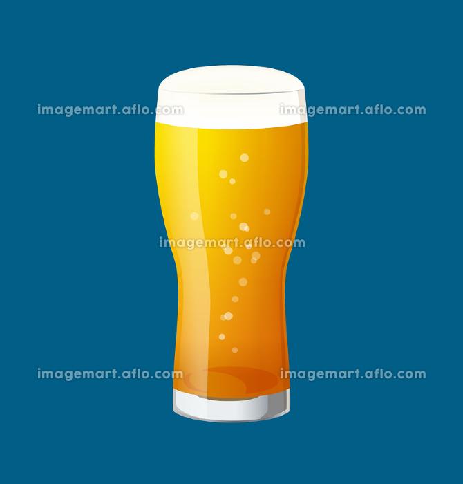 グラスビールのイラストの販売画像