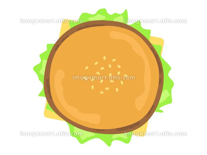 ハンバーガーのイラストの販売画像