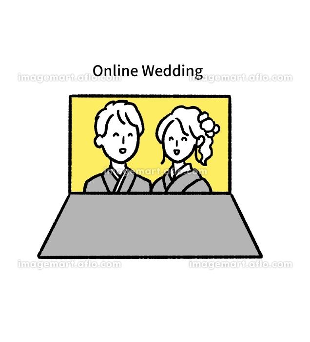 オンライン結婚式のイラストの販売画像