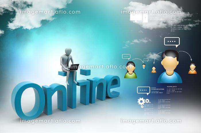 Online job conceptの販売画像