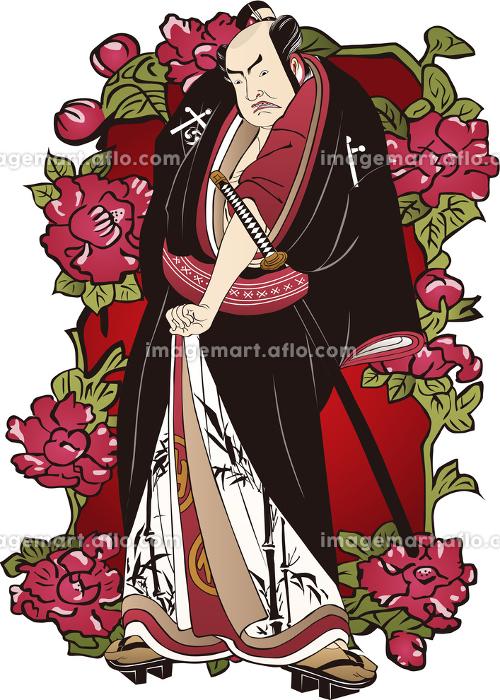 浮世絵 歌舞伎役者&花 その21の販売画像
