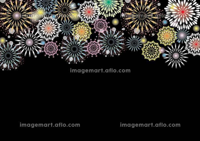 花火大会 お祭り 夏のイベントの背景素材の販売画像
