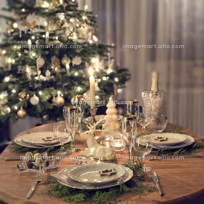 a colorful and festive christmas table setting