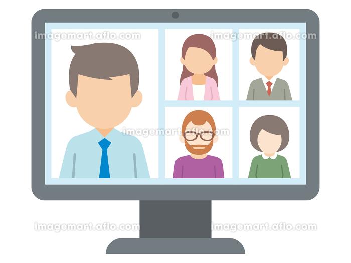テレワーク リモートワーク オンライン ビデオ会議 デスクトップの販売画像