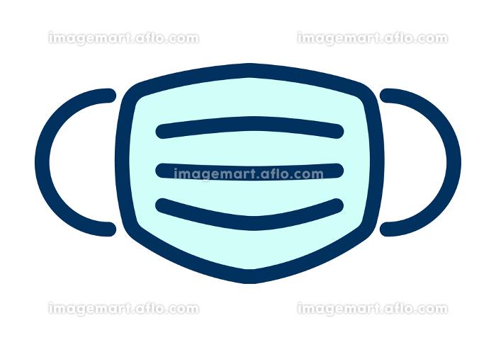 サージカルマスクのシンプルなデザインのイラストの販売画像