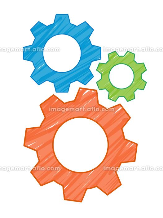 歯車のイラスト素材の販売画像
