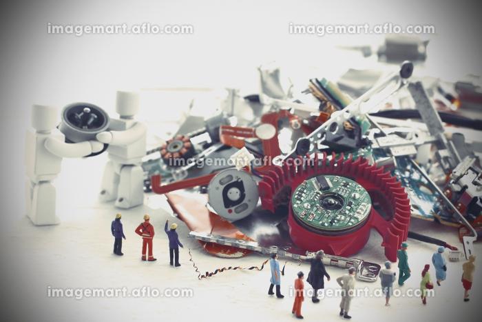 災害で救助活動をするロボットの販売画像