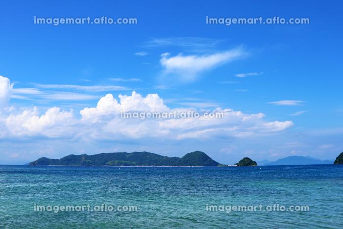 瀬戸内のハワイ、周防大島から眺める夏の海と島の販売画像