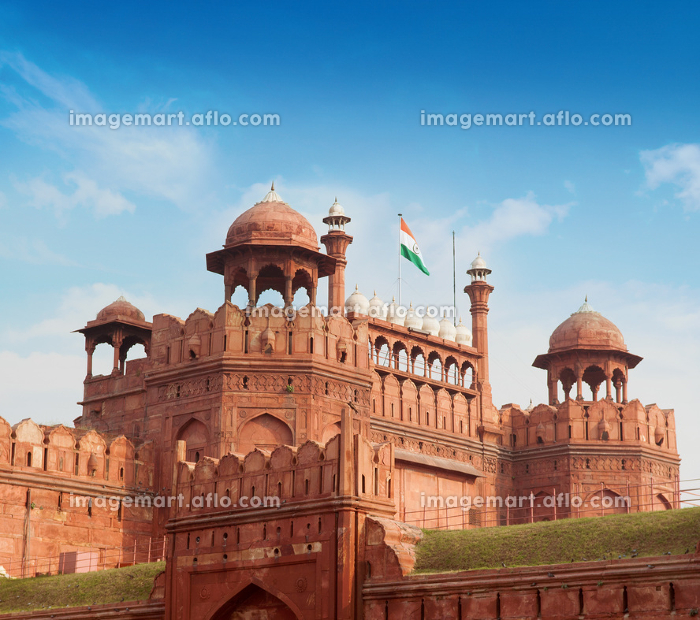 The Red Fort with blue skyの販売画像