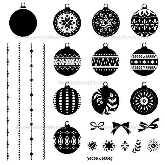 クリスマスオーナメント、デコレーション素材セットの販売画像