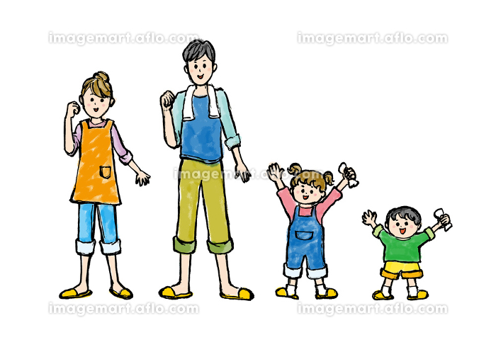 人物、ライフスタイル・生活、生活、家族、ファミリー、ベクター素材、笑顔、微笑み、微笑む、シンプルの販売画像