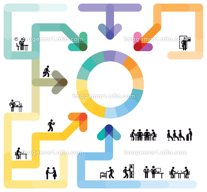 infographic workflow conceptの販売画像