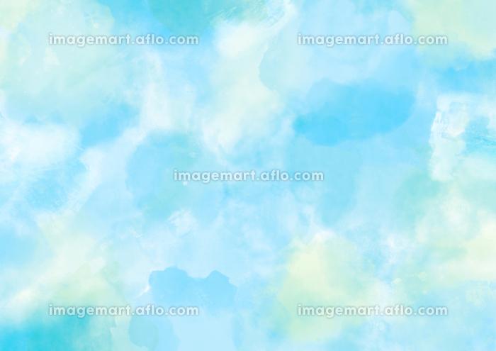 水彩調 アブストラクト背景 水色4689の販売画像