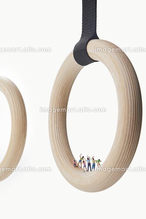 フィギュア 体操を応援する観客の販売画像