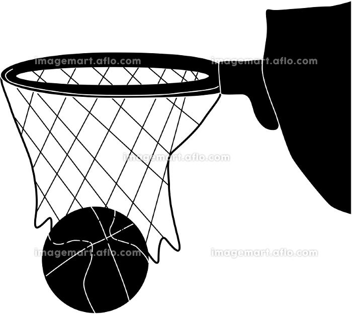 点が入るバスケのシルエットの販売画像