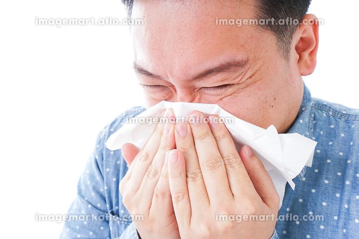 花粉症の男性の販売画像