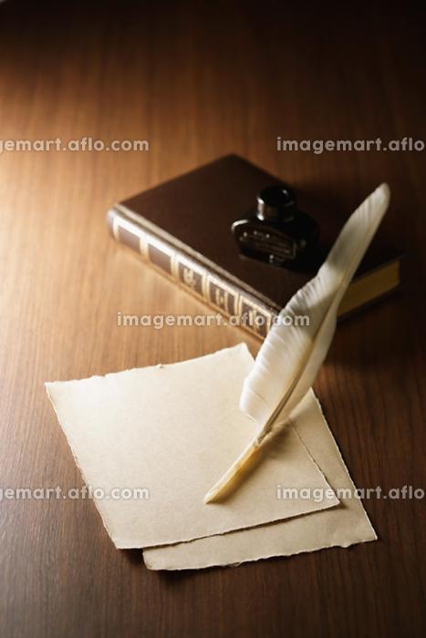 羊皮紙と羽ペンの販売画像