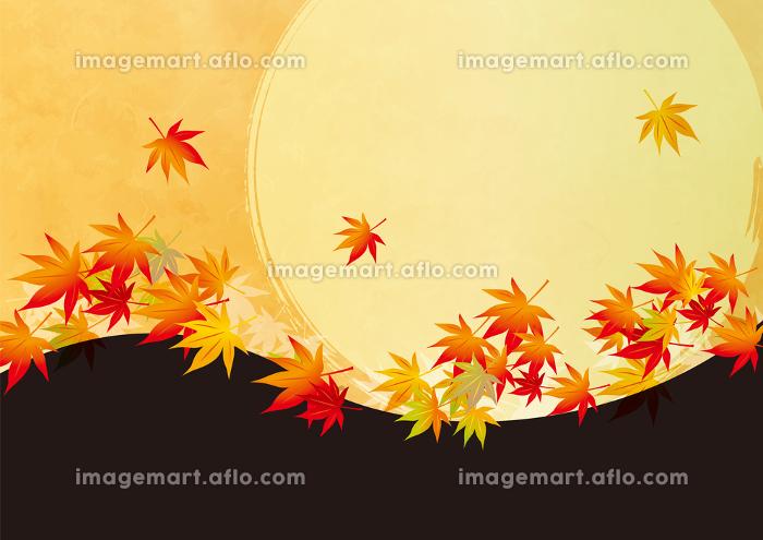 秋 オレンジの背景イラストの販売画像