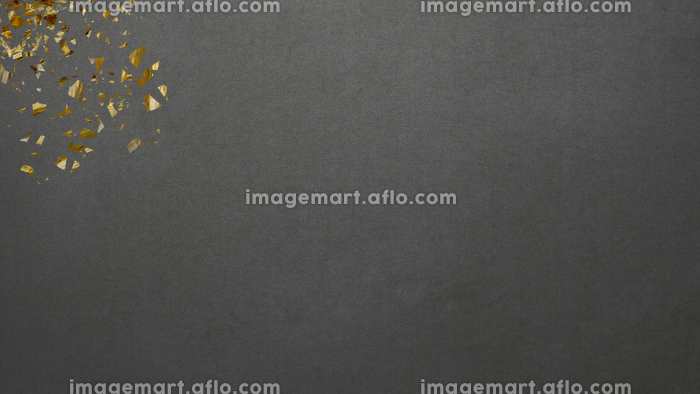 黄金キラキラ モダン横長 マットなブラック和紙背景の販売画像
