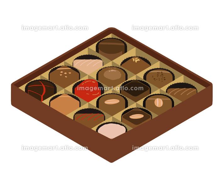 チョコレート アソート 茶色 アイソメの販売画像