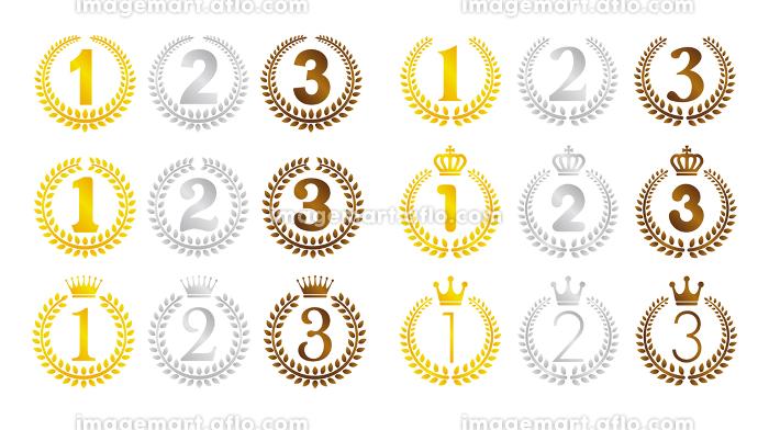 リース 月桂樹 オーナメントランキングイラストセット1位 3 イメージマート