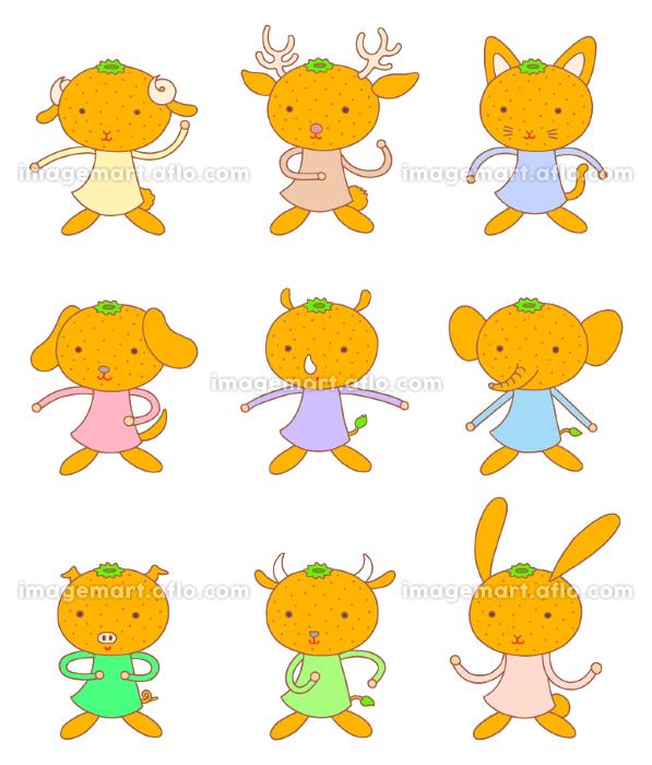 動物・ミカンキャラクターの販売画像