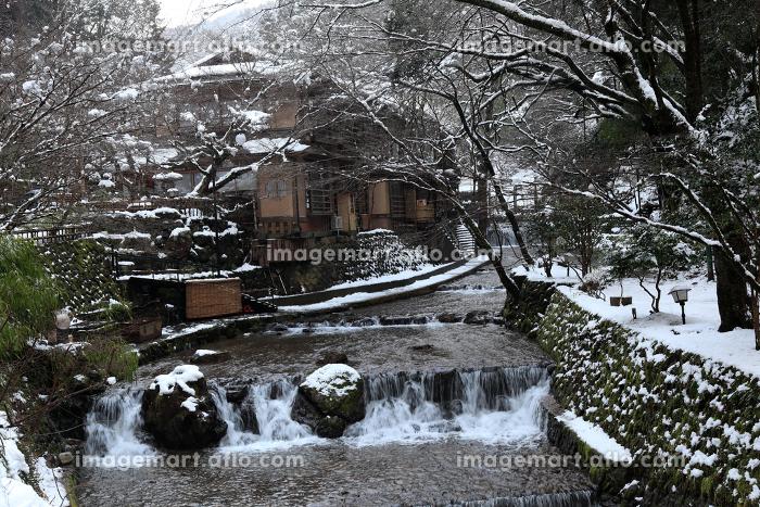雪の貴船の街並みの販売画像