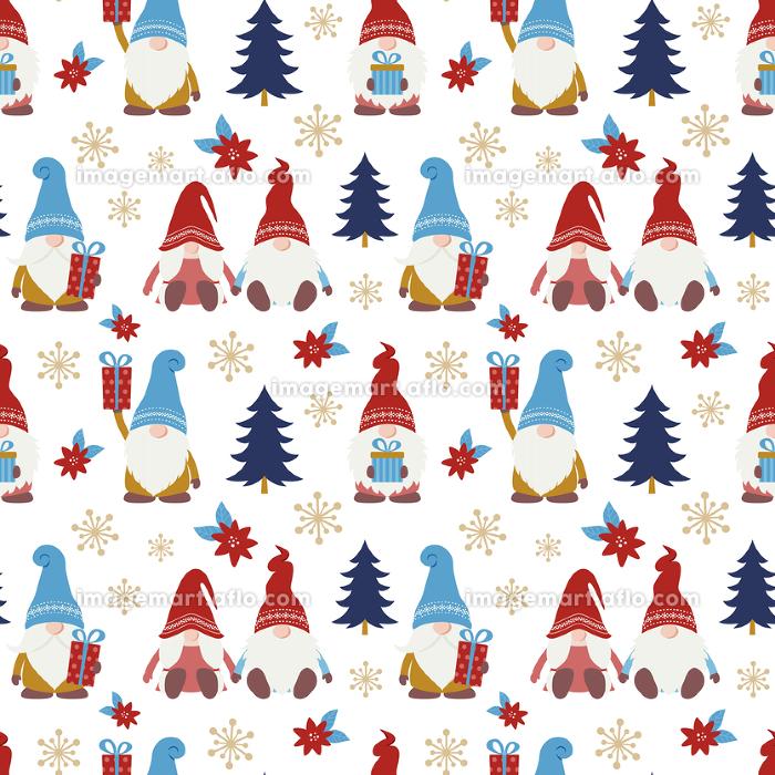 かわいいクリスマスの小人のシームレスパターンの販売画像