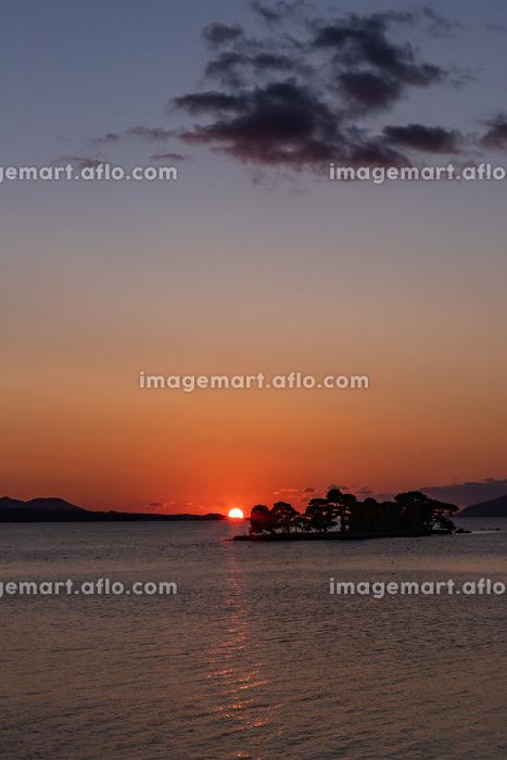 日本の夕日百選 宍道湖の夕日 島根県松江市の販売画像
