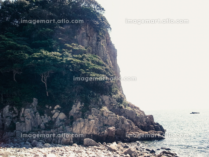 岩壁と海岸と海の販売画像