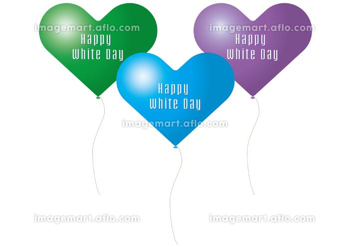 ホワイトデーのハートのバルーンの販売画像