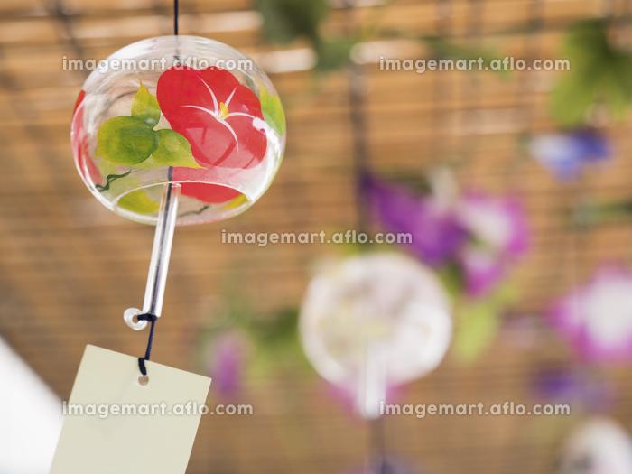 ガラス製の風鈴の販売画像