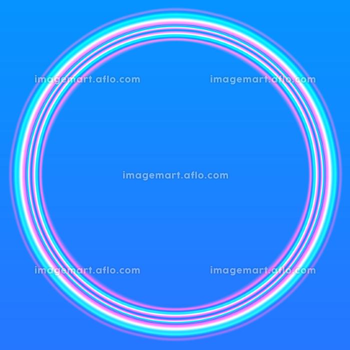 夏の空に虹が輝いているイメージの背景イラストの販売画像