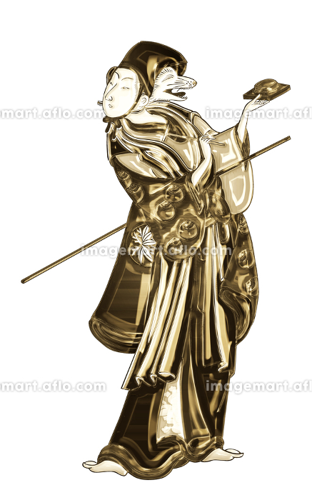 浮世絵 歌舞伎役者 その32 金バージョンの販売画像