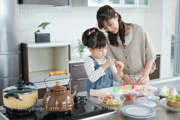 日本人親子で料理の販売画像