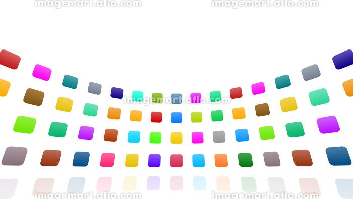 アイコン カラフル シンボル パターン レトロ シンプル アブストラクト 抽象的 3D イラストの販売画像