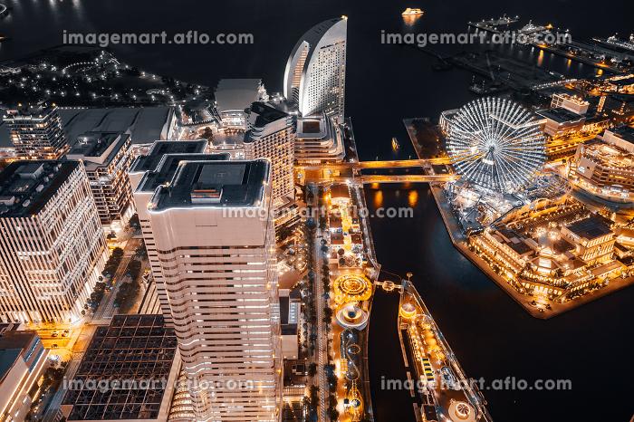 Beautiful building and architecture in Yokohama city skylineの販売画像