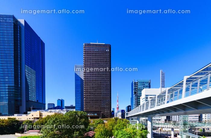 浜松町駅の東側(竹芝)からの眺望 【東京都の都市風景】の販売画像