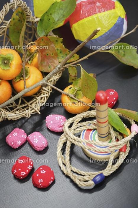 柿と日本の玩具の販売画像
