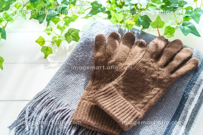 マフラーと手袋の販売画像