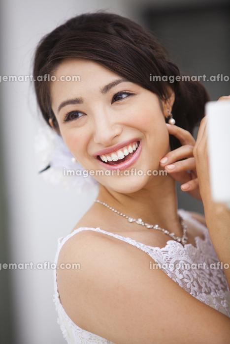 笑顔の新婦