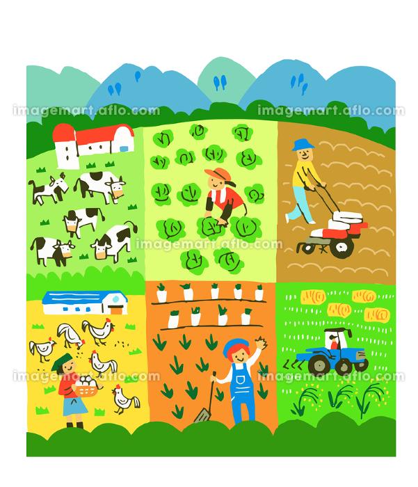 畜産と養鶏と農業の販売画像